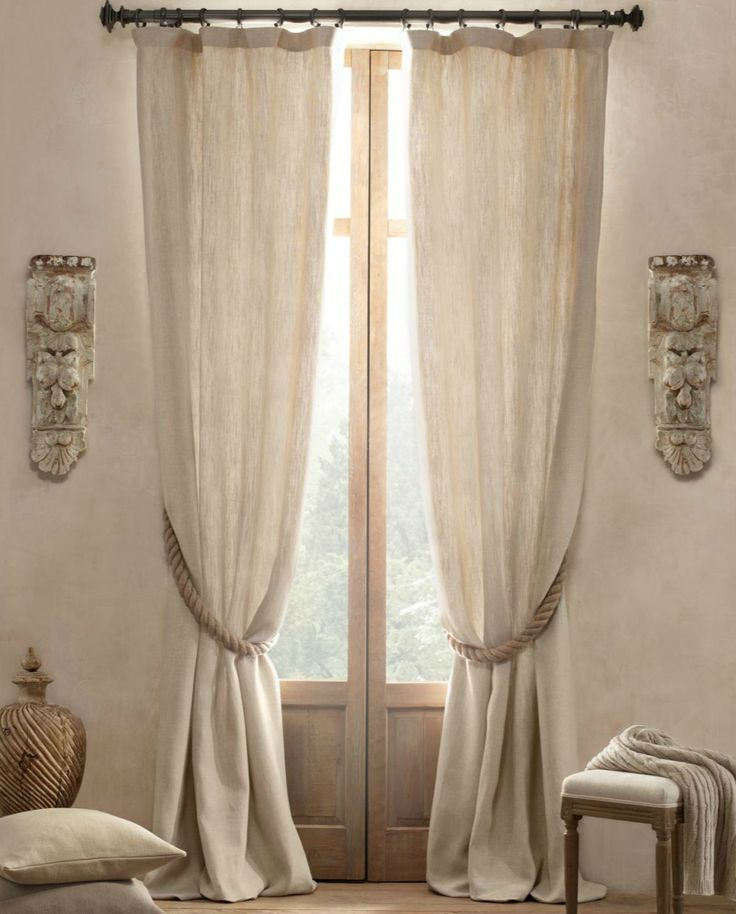 Curtains over french doors | dad's house | Pinterest