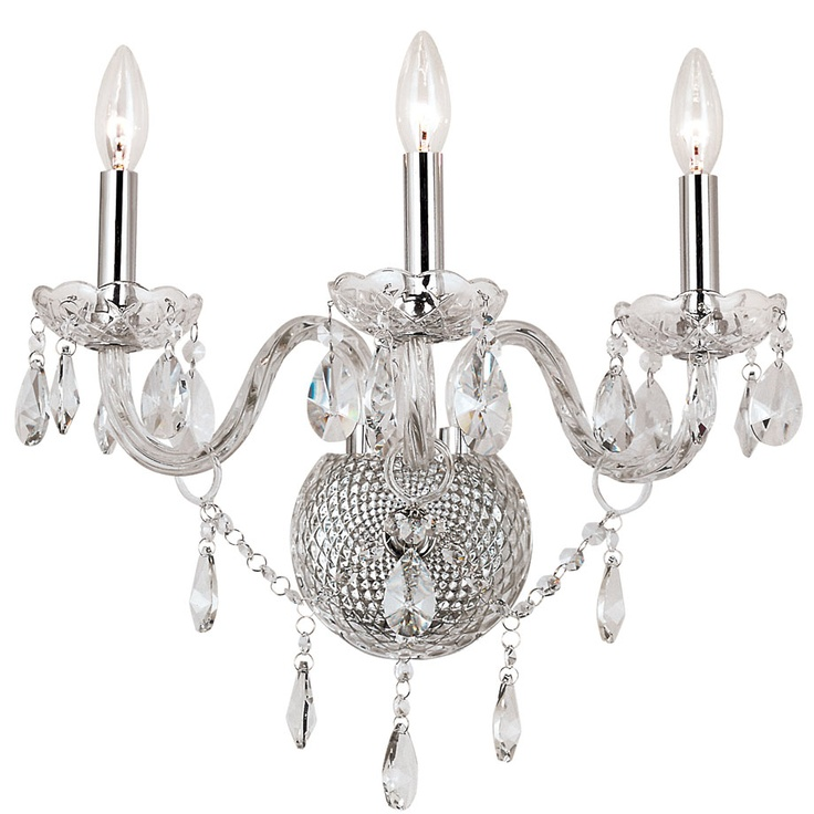 Silver Crystal Wall Sconces : Silver Crystal Wall Sconce