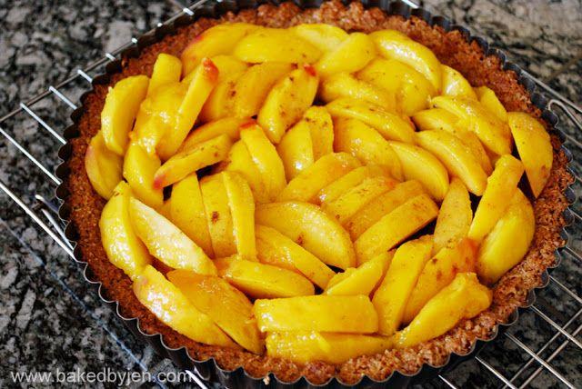 pesto crust baked peaches with an almond crust mango apple peach peach ...