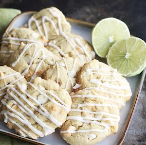 Lime & White-Chocolate-Chip Cookies