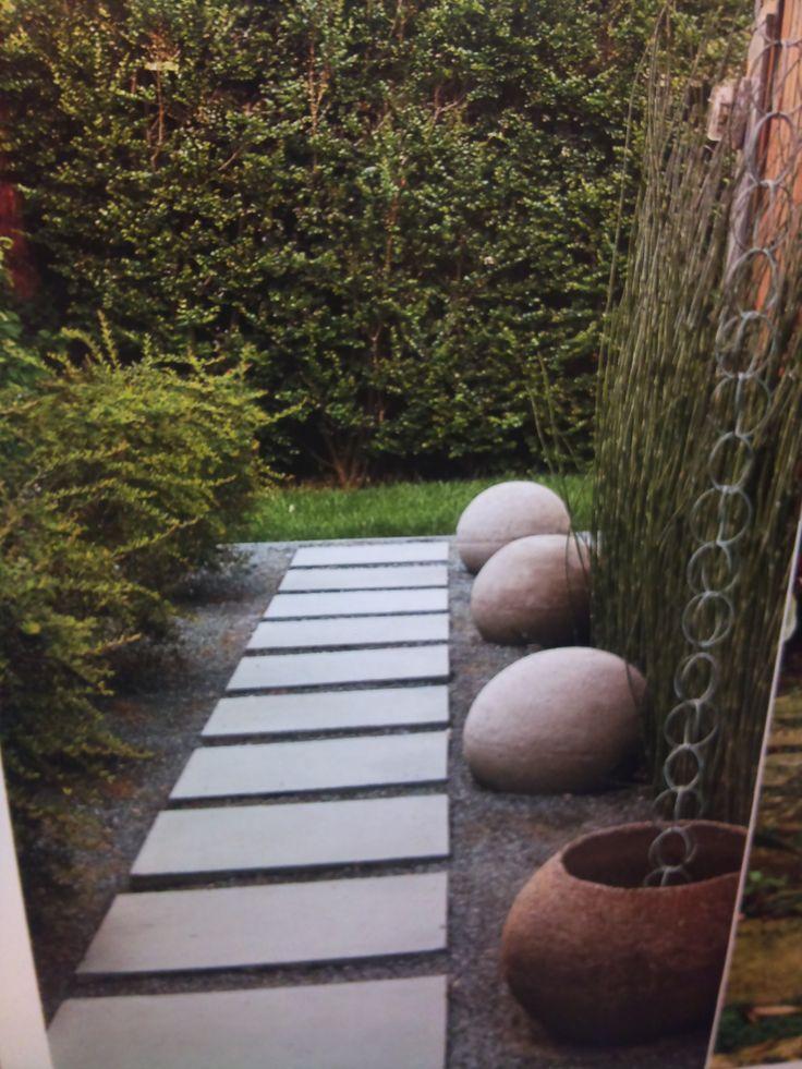 Zen stone walkway