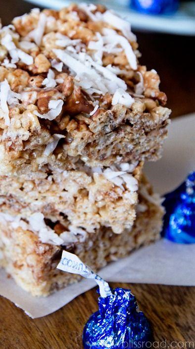 Chocolate & Coconut Creme Rice Krispie Treats | Recipe