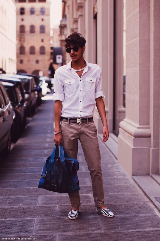 ... I would wear espadrilles in the summer.