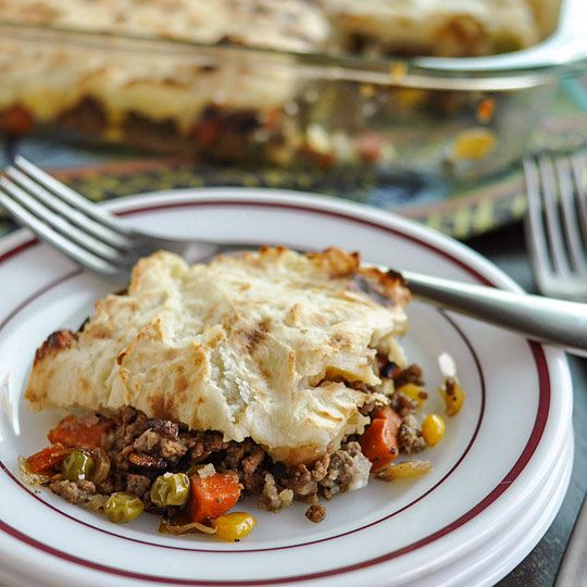 Shepherds Pie: sub turkey for beef or use chickpeas to make vegetarian ...