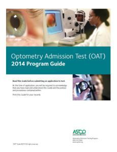Optometry course guide