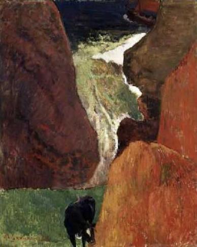 Above the Abyss Au Dessus du Gouffre by Paul Gauguin