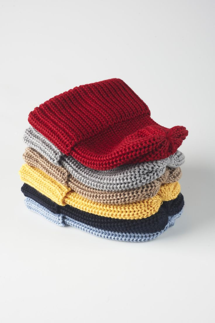simple loom-knit hats Looming Pinterest