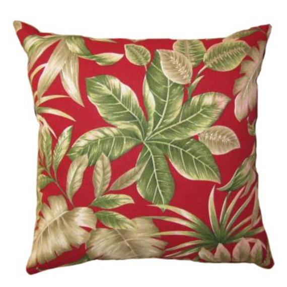 Burgundy Green Throw Pillows : Floral Decorative Throw Pillow With Burgundy Trim 20x20 Throw Pillow Bed Mattress Sale