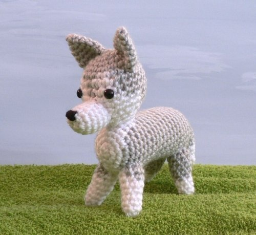 Amigurumi Crochet Puppy Pattern : AmiDogs Husky amigurumi dog PDF CROCHET PATTERN