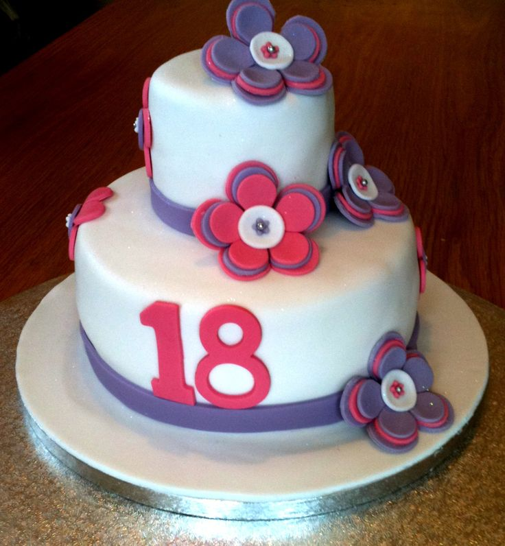 Simple Cake Design For Debut : 18th Birthday Cake 18th Birthday Cakes Pinterest