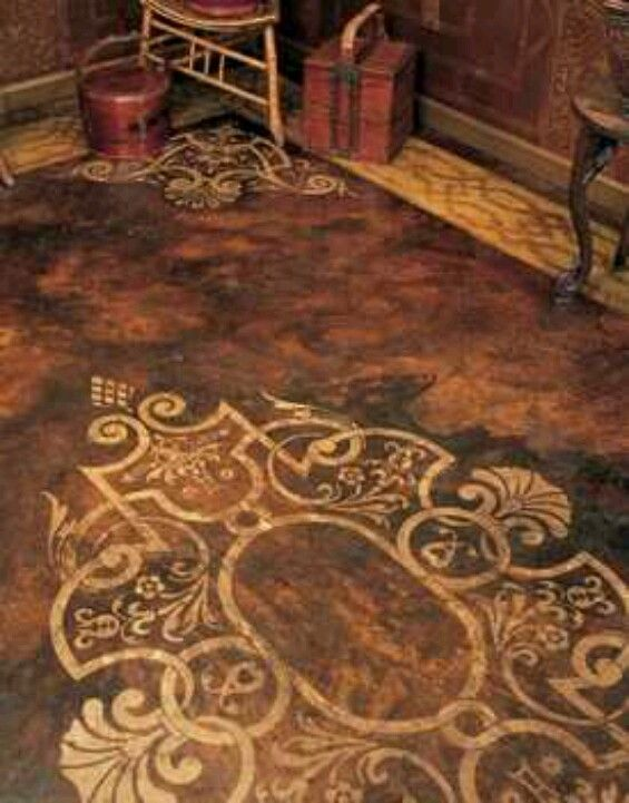 Stained Concrete Design For The Home Pinterest