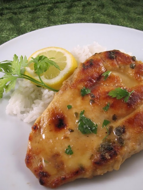 Chicken Piccata - this recipe was easy and yummy with mashed potatoes!