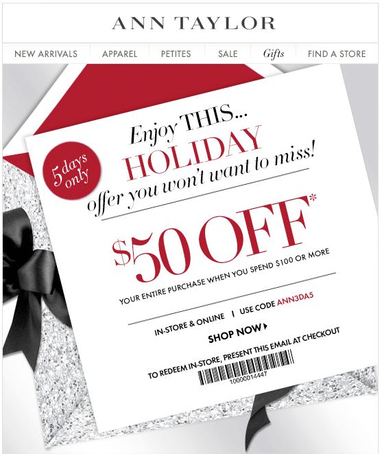 Loft printable coupon december 2018