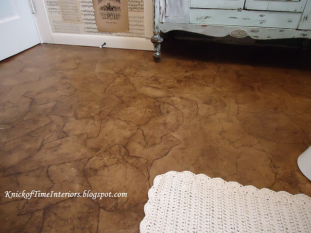 Craft paper leather flooring unique home decor for Leather flooring