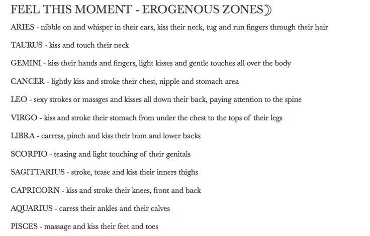Libra erogenous zones