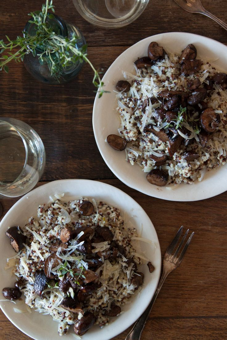 Quinoa Risotto with Pan Roasted Mushrooms - What's Gaby Cooking
