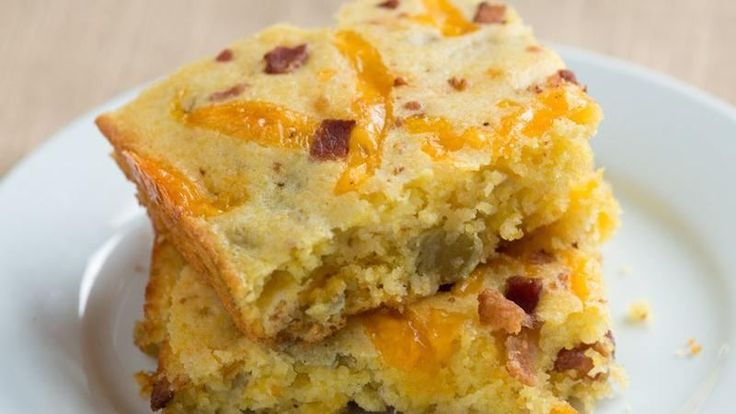 ... cornbread mix with chopped green chiles, bacon and Cheddar cheese
