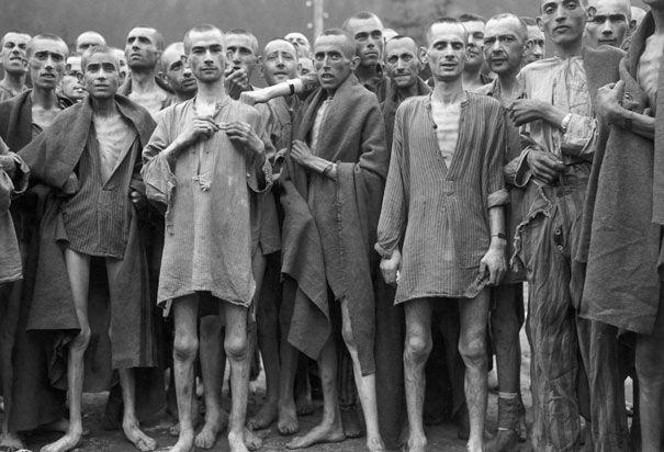 Ebensee Concentration Camp survivors, 1945