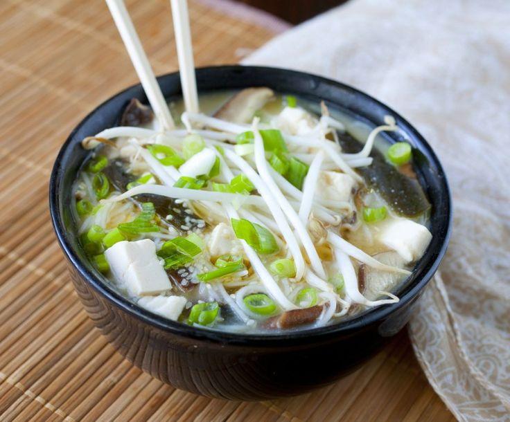 Tofu and Wakame Miso Soup | Japanese | Pinterest