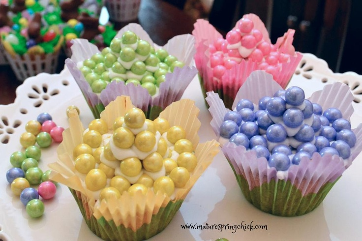 Easter Surprise Cupcakes Recipe — Dishmaps