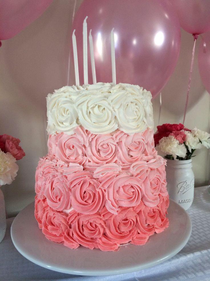 Beautiful Pink Cake Images : Beautiful pink rose cake