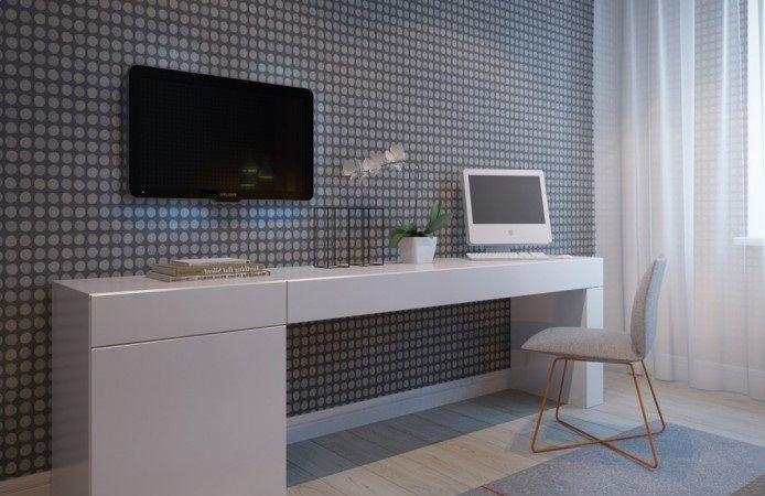 Bedroom Desk, Long, Narrow, Computer | Desk Design | Pinterest