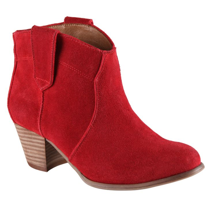 red booties from ALDO Shoes. #cuteforfall