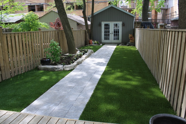 Fake Grass For My Backyard : Fake grass, artificial grass, astroturf in our shady narrow backyard