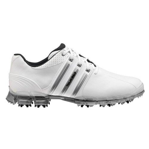 adidas Men's Tour360 ATV Golf Shoe,White/White/Metallic Silver,10.5 M