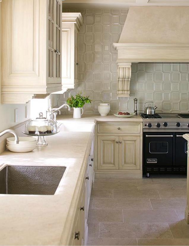 stone mosiac backsplash kitchen kitchens pinterest