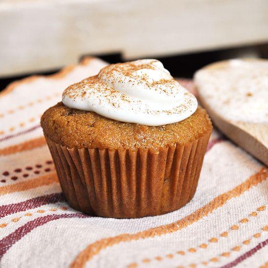 Pumpkin Pie Cupcakes Recipe - Cherished Bliss
