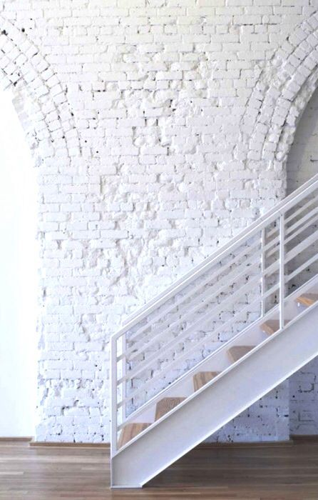 Exposed brick painted white for the compound pinterest for White exposed brick wall