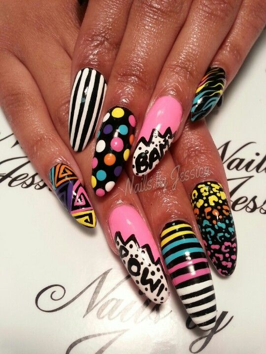 Almond shaped nail designs | Nails by Jessica | Pinterest
