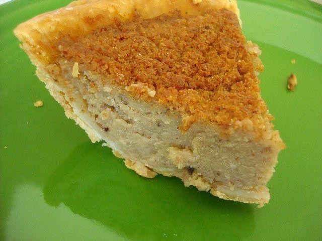 Blueberry Bean Pie - blueberry version of sweet custard pie made with ...