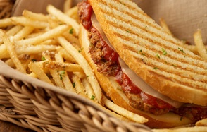 Meatball Panini. Sooo good | If I get fat from this, it will be worth ...