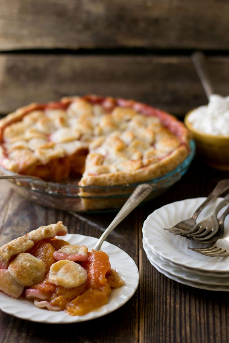 Peach Pie with Maple Whipped Cream via Sift & Whisk