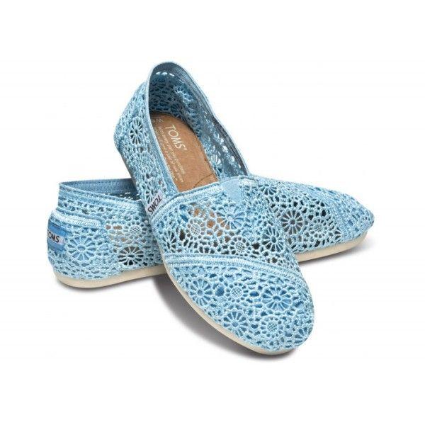 Toms Crochet shoes.Cheap Toms. #crochettoms