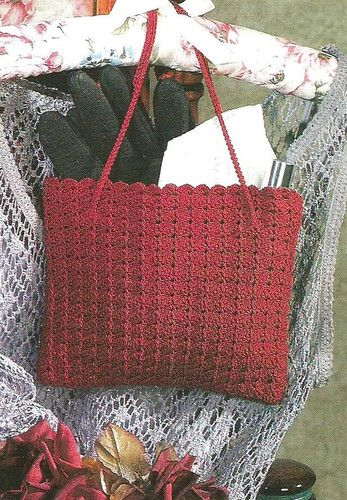 Easy Beginner Crocheting Crochet Pattern for A Garnet Purse Handbag ...