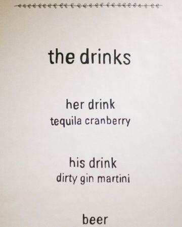 Simple cocktail hour wedding