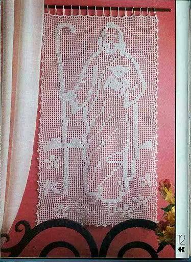 Cortinas De Baño Tejidas Al Crochet:Puntos Diagramas Esquemas Patrones Crochet Ganchillo Crochet Lace
