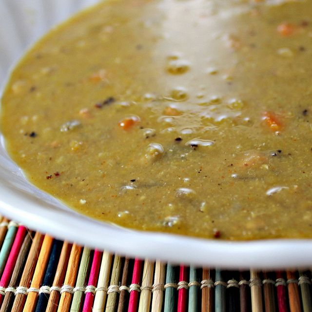 IMG_0719 by eatswellwithothers, via Flickr Slow Cooker Split Pea Soup