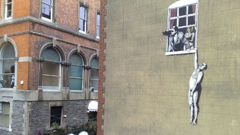 Banksy Graffiti on Park St., Bristol
