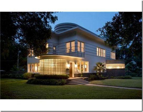 Streamline Moderne home in Shreveport, Louisiana