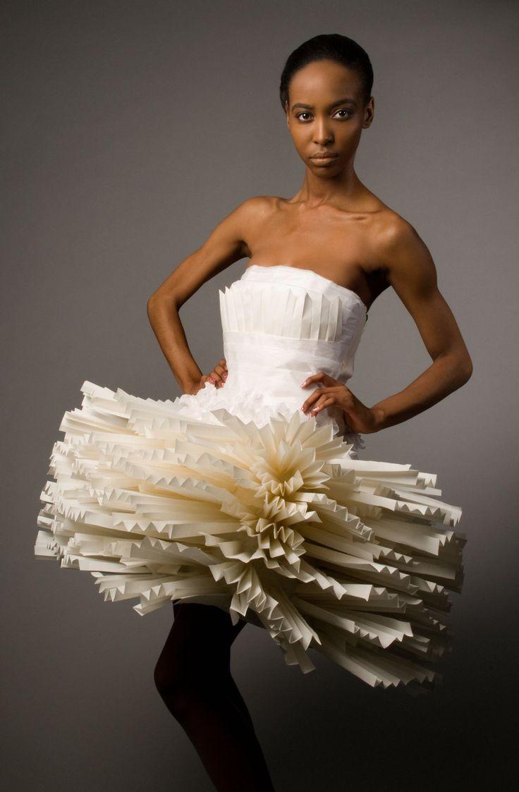 Платье из газеты своими руками инструкция фото мастер класс