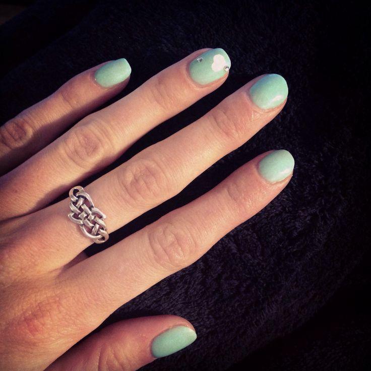 Tiffany blue shellac nails | Nails Did | Pinterest