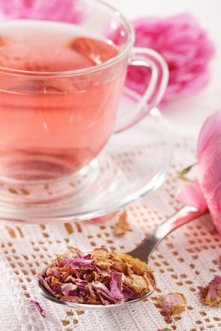 Rose petal tea | cocktails | Pinterest