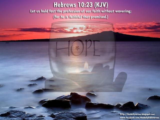 Heb. 10:23 | Hebrews | Pinterest