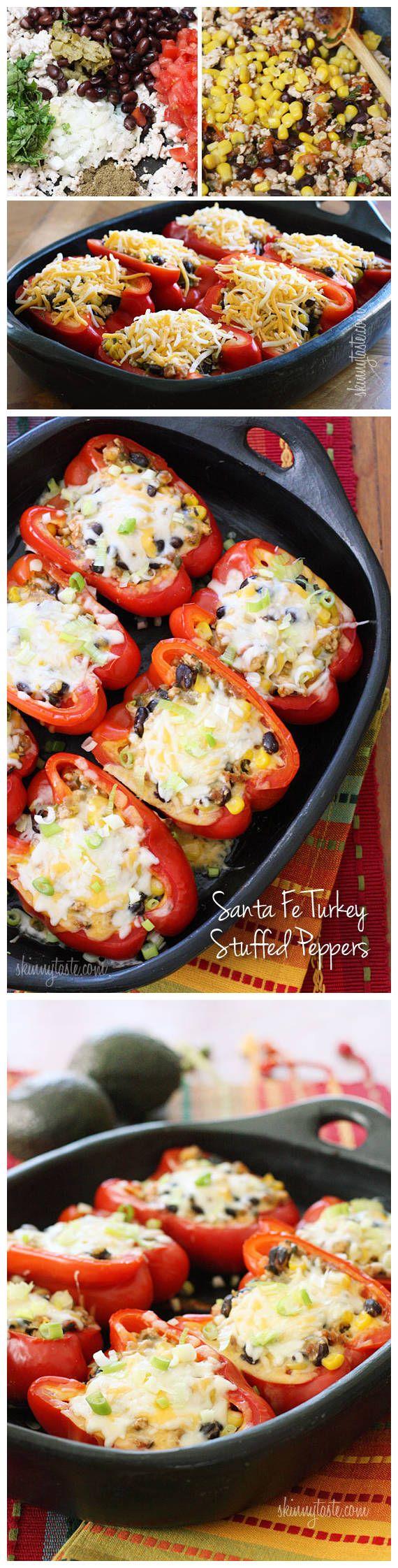 Santa Fe Turkey Stuffed Peppers | Favorite Food Bloggers! | Pinterest