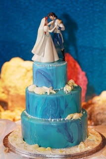 The Disney Inspiration Blog: Disney Princess, Little Mermaid Wedding Inspiration - the cake topper
