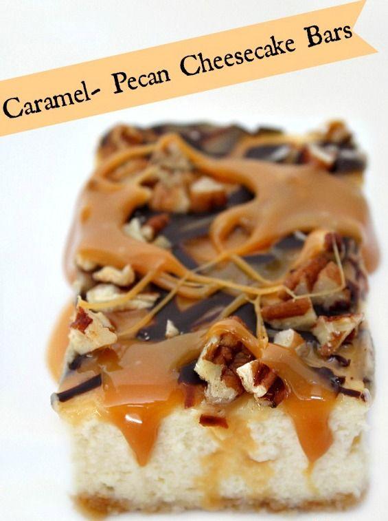 Caramel- Pecan Cheesecake Bars | Recipe